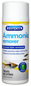 Interpet Ammonia Remover 125ml Aquarium Water Treatment Chloramine Fish Tank