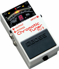 New Boss TU-3 Chromatic Tuner Effects Pedal with 12 FREE Boss Abalone Picks