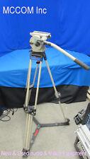 Vinten Vision 10 Fluid Head 2 Stage Aluminum Tripod w/ Ground Floor Spreader