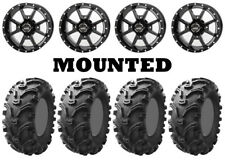 Kit 4 Kenda Bearclaw K299 Tires 25x8-12/25x10-12 on Frontline 556 Black Fxt(Fits: More than one vehicle)