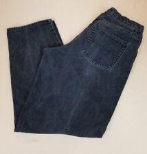 Anchor Blue Loose Fit 90s Skater Streetwear Black Distressed Mens 34x32 D
