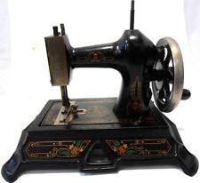PRECIOSA y antigua maquina de coser MÜLLER 19  del año 1906 FUNCIONA es original