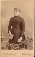 CDV photo Feine Dame - Frankenberg 1880er