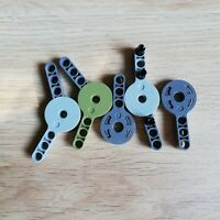 LEGO Lot of 6 Light Bluish Gray #3 Technic Mindstorms Axle Connector Pieces