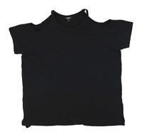 Pep & Co Black Cotton Blend Womens T-Shirt Size 18 (Regular)