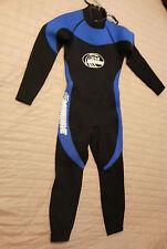 Aquawave Full Body Wetsuit Size S Flatlock 2mm Black Blue Fullsuit Diving Scuba