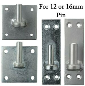 GATE HINGES HANGERS WROUGHT IRON METAL ZINC GATES FITTINGS FOR 12mm or 16mm BOLT
