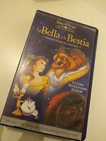 VHS  LA BELLA Y LA BESTIA EDICION ESPECIAL LIMITADA   DISNEY (coleccionistas)