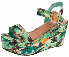 Wedge Sandals Multi-Coloured Heels for Women
