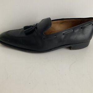 LODING Black soft Leather Men's Slip On Loafer shoes -size UK10/EU 44
