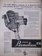 PUBLICITÉ 1958 CAMERA BEAULIEU R16 - ADVERTISING