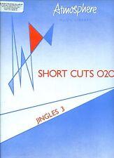 ATMOSHPHERE MUSIC LIBRARY short cuts 020 jingles 3 EX LP UK
