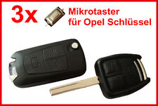 3x Car Key Microbuttons for OPEL ASTRA MERIVA OMEGA VECTRA SIGNUM ZAFIRA