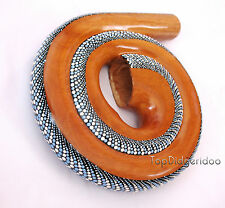 Travel Compact Spiral DIDGERIDOO+BAG swirl snail shell Hand-carved & Dot-Painted