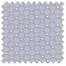 Dotted Criss Cross Fog Gray Lattice Eyelet Sewing Fabric MICHAEL MILLER