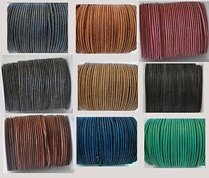Vintage Round Leather Cord Real 1,1.5,2,3,4,5mm for Jewellery String Lace Thong