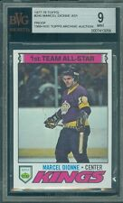 1977-78 TOPPS # 240 MARCEL DIONNE AS1 PROOF BGS 9 SOLO FINEST UNIQUE .