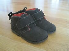 Toddler boy DARK BROWN FAUX SUEDE ANKLE HEIGHT CASUAL DRESSY Shoes NWT 11