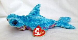 "Ty Beanie Sledge Hammerhead Shark New 8"" 20cm MWMT Rare Retired +1 Free Ty card"