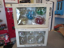 LOT OF VINTAGE CHRISTMAS BULBS HAND CRAFTED IN WEST GERMANY