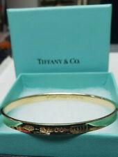 18k 750 Tiffany & Co Bangle Bracelet 1997 T&CO 30.3 Grams Yellow Gold W/ Box WOW