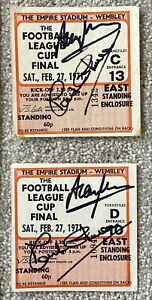 1971 League Cup Final Ticket Stub Signed by CHIVERS & MULLERY Tottenham Hotspur