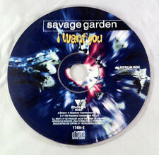 I Want You [Single] by Savage Garden (CD 1997) - Disc Only
