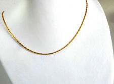 Women Beauty Rope Choker Chain Necklace 46cm 18 inch 24K Yellow Gold Plated UK