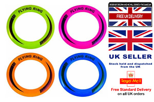 """10"""" Neon Flying Ring Disc Frisbee Flyer Adult Kids Family Outdoor Play Dog Disc"""