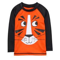 NWT Gymboree Getaway Shop Tiger Orange Boys Long Sleeve Rash Guard Swim Shirt