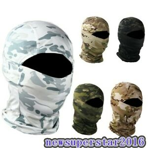 Tactical Full Face Mask Head Cover Hood Warmer Guard Snow field Camouflage Veil
