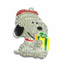 Charlie Browns Snoopy Rhinestone Pendant Necklace