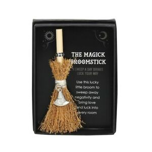 Mini Magick Broomstick Witches Hat Charm for good luck