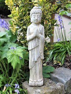 Buddha Standing Stone Drift Wood Effect Garden Outdoor Indoor Statue Ornament