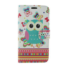 for ZTE Blade Force/blade X Multi-color Butterflies Owl Leather Case Cover