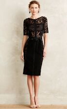 NEW Byron Lars Carissima Black Sheath Dress Size 12