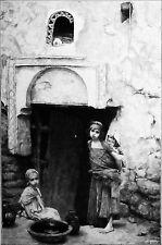 ALGÉRIE - ENFANTS de BISKRA - Gravure du19e (d'après le peintre Gabriel Ferrier)