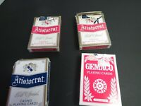 Lot Of 4 Aristocrat Casino Playing Decks Of Cards Flamingo Biloxi New Orleans