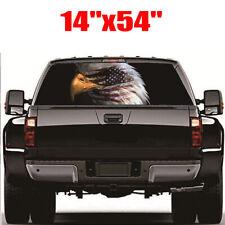 For Trcuk Rear Window Sticker Decal Eagle Face American Flag Style 135cm x 36cm