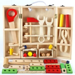 Wooden Creative Tool Box Montessori Learning Educational Wooden Toy,Holiday Gift