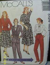 McCall's Sewing Pattern 5124 Sz 8 Jacket Belt Blouse Ascot Skirt Pants New 1989