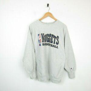Vintage Champion 90s Reverse Weave NBA Denver Nuggets Basketball Sweatshirt XL