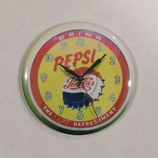 Pepsi Advertising Clock Vintage Style Fridge Magnet 2 1/4""