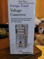 Radio Shack Foreign Travel Voltage Converter Electricity 220/240 Vac 1600 Watt