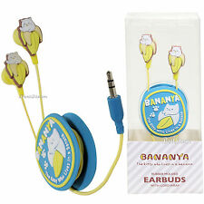 Anime Bananya Wrap Around Earbuds In Ear Cat Who Lives in Banana Crunchyroll NEW