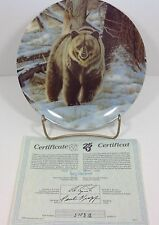 Wild and Free Canada's Big Game The Grizzly Bear Bradford Exchange Plate #1