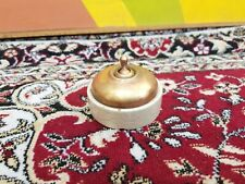 Old Original Rare Vitreous 777 Brass Ceramic Electric Switch Germany