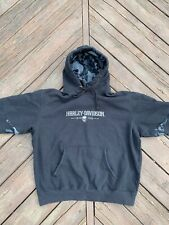 Harley-Davidson Hoodie Large Camo New York Black