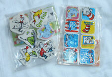 Dr. Seuss Charactor Erasers, set of 2pkg, 6 assorted erasers, Cat in the Hat