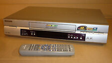 SILVER PANASONIC VIDEO TAPE PLAYER/RECORDER VCR 12hr VHS SUPER DRIVE LP NV-FJ630
